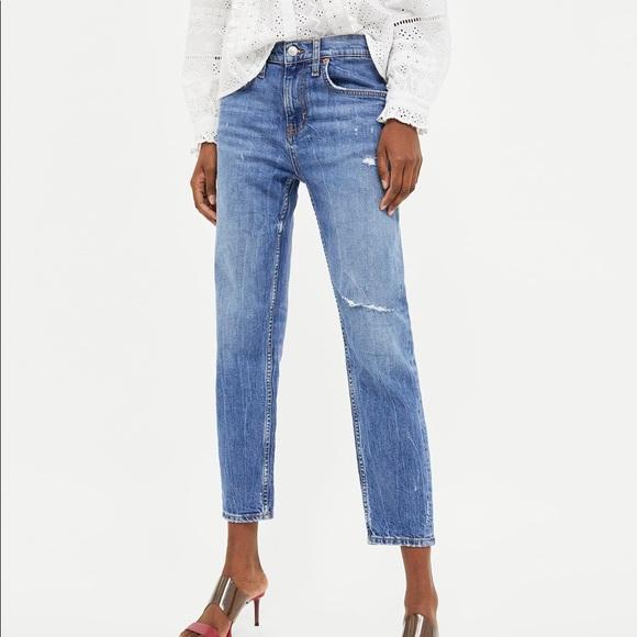 887eb3e2 Zara Slim Boyfriend Malibu Blue Jeans Sz 27 4US. M_5b22dd96a5d7c64ce69b08cc